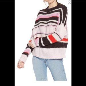 Something Navy striped sweater XS NWOT